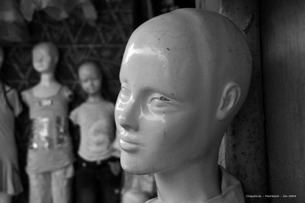 Mannequin en Noir et Blanc