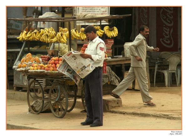 Photographie d'Inde : Marchand ambulant