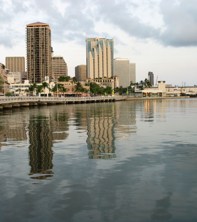 Honolulu Harbour Reflections