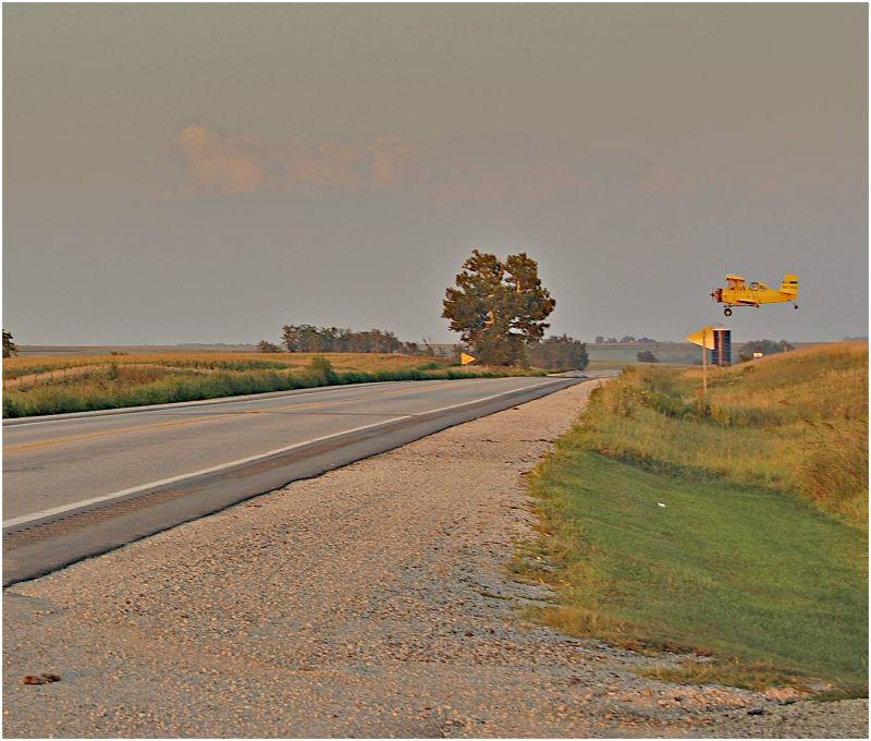 On Rte 34w in Iowa...a Crop Duster