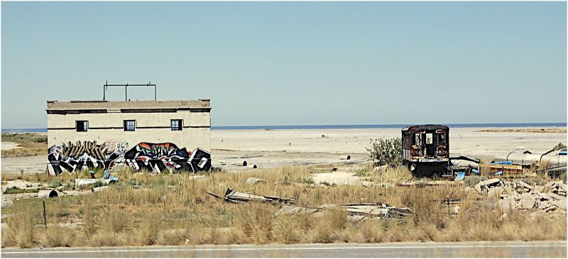 Old Shacks on the shores of the Great Salt Lake