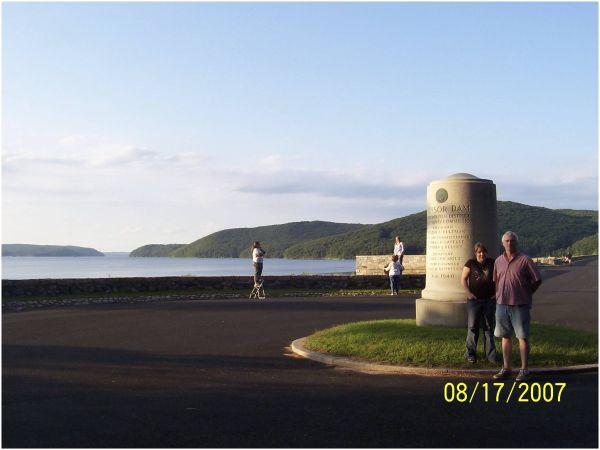 Winsor Dam Monument at Quabbin Reservoir, Ma.