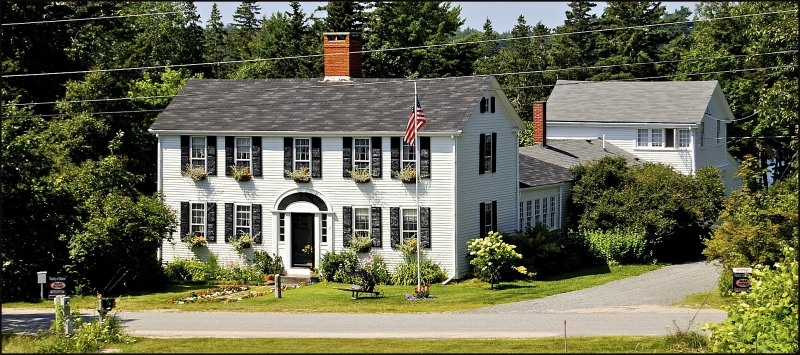 Colonial Home on Frenchman's Bay Maine for Sale