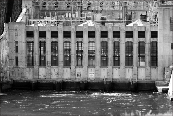 The Power Building at Wyman Dam in Moscow, Maine