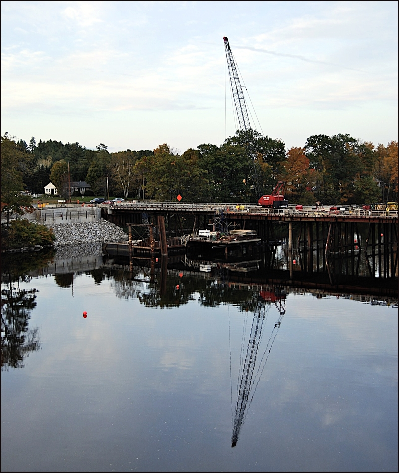 Building the Norridgewock Bridge, Maine