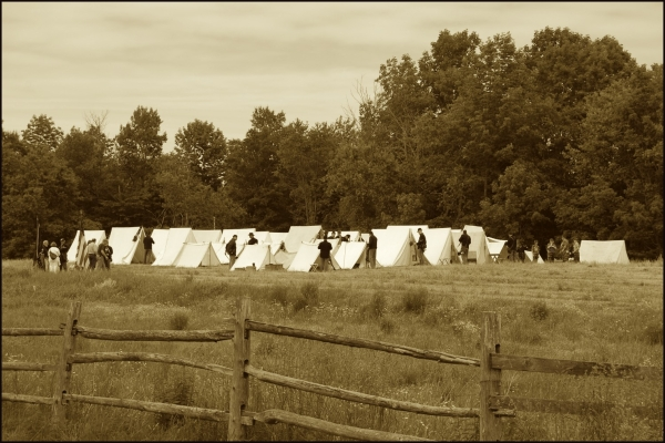 Union Soldiers Back At Camp