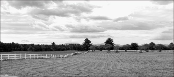Fence On A Farm In Maine