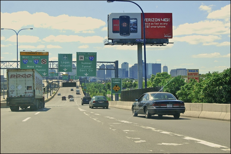 Road To Logan Airport, Boston, MA.