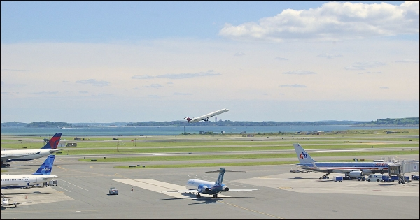 Airplanes At Logan Airport In Boston, MA