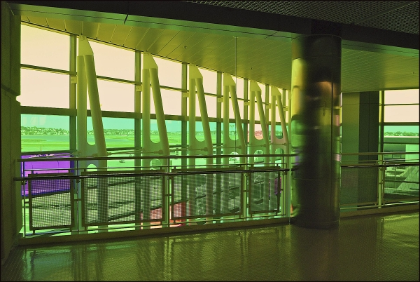 Lobby Windows At Logan Airport, Boston