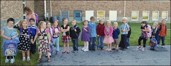 First Day of School For Kindergartners
