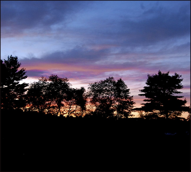 Sunset On A Farm In Maine