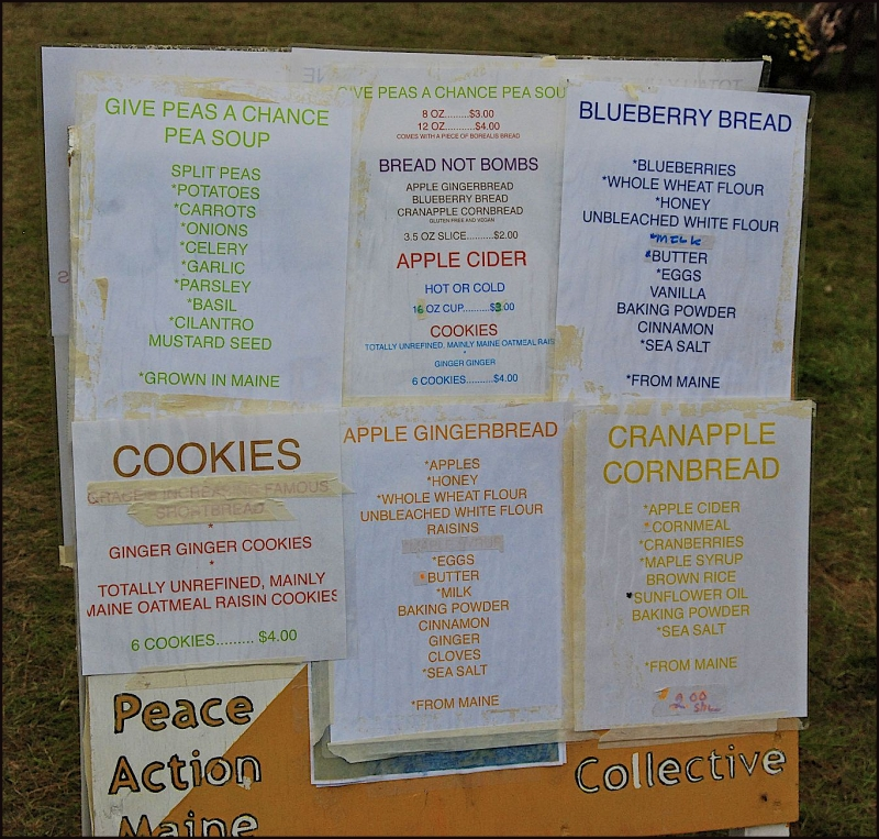 Common Ground Fair - Food Signs