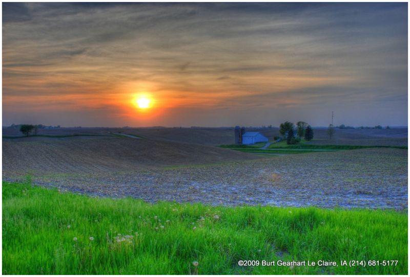 Sunset in Rural Iowa