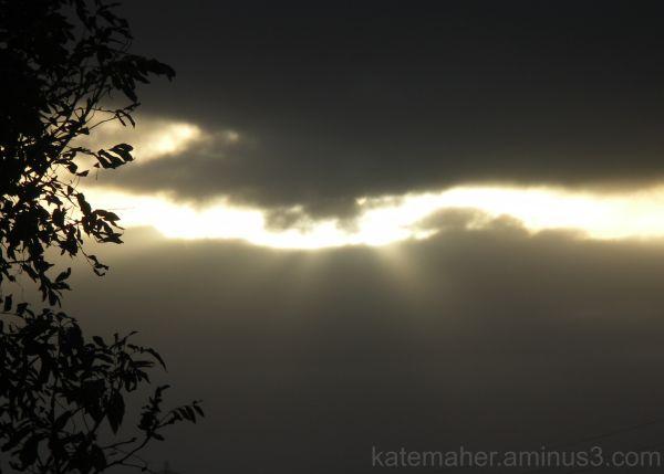 light sun clouds