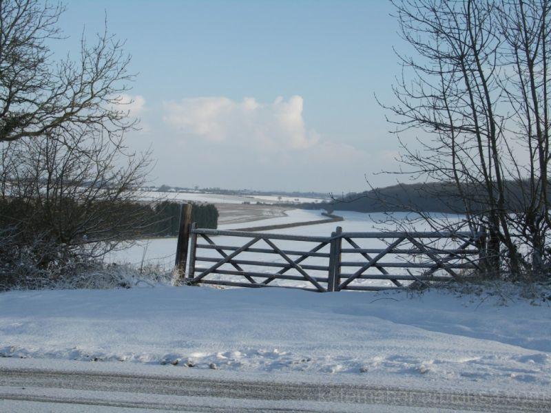 snow gate & fields
