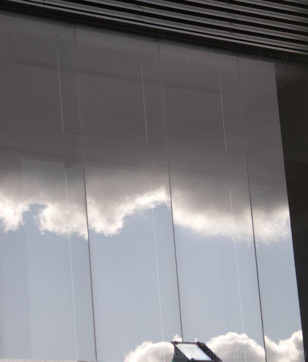 storm cloud reflected