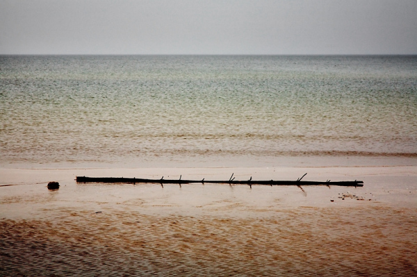 baltic sea in rain