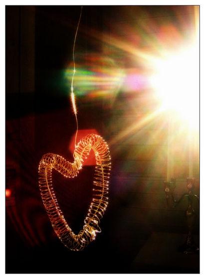 heart in sun light
