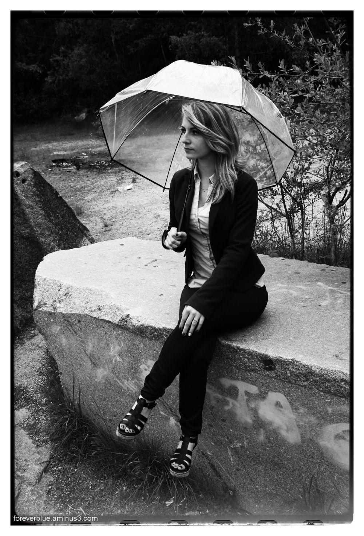 .... STANDING in the RAIN ...