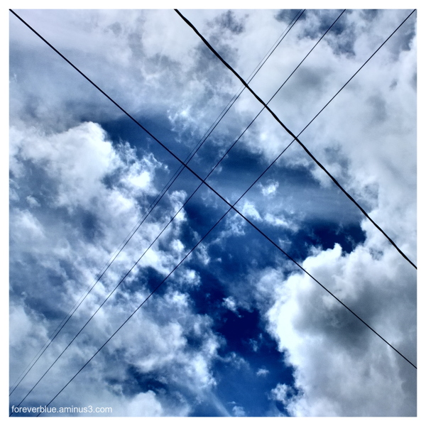 ... LINES CROSSING in the SKY ...