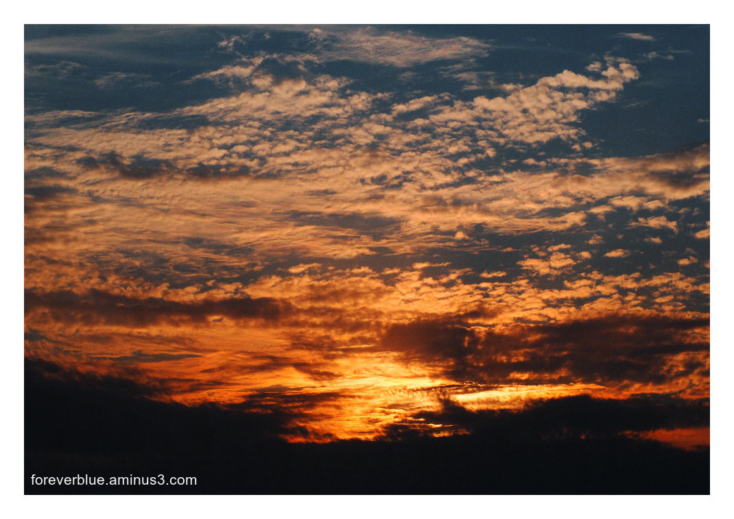 ...FIRE AT SUNSET ...