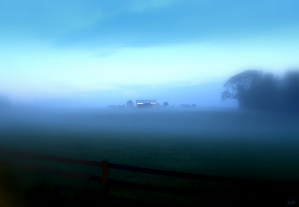 By the Light of the Barn and Fog