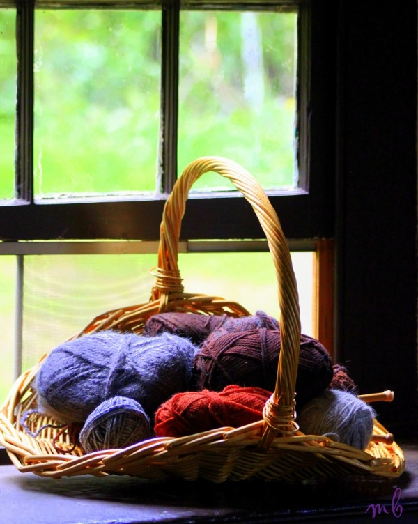 Knitting by the Window