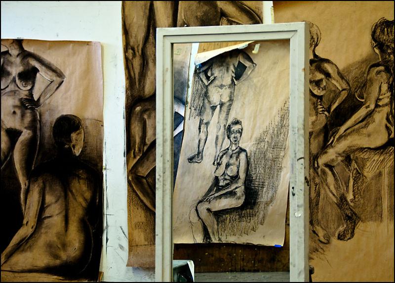 Art class drawings