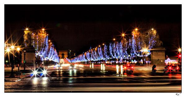 Les lumières de fêtes à Paris