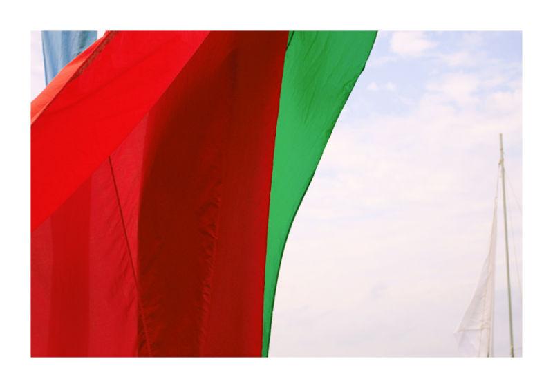 Flags running free II