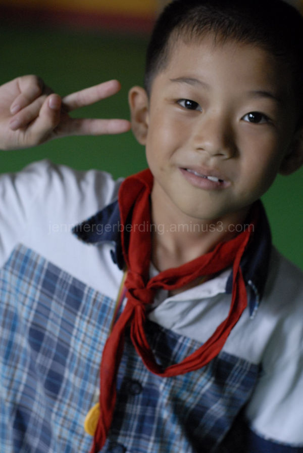 Peace Sign, 1st Grader