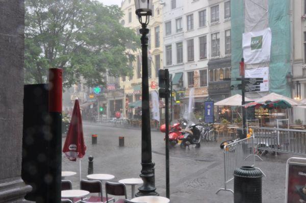 grosse averse sur Bruxelles 1
