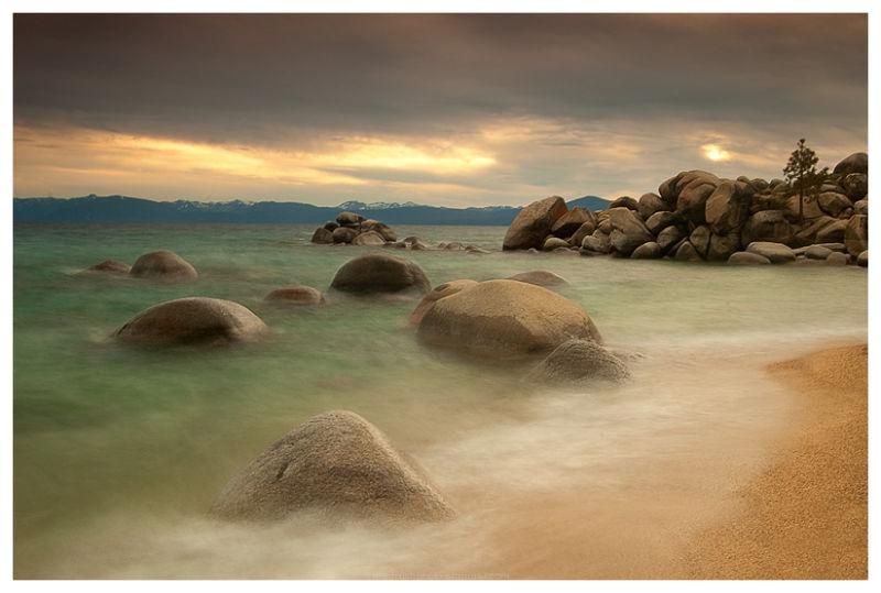 Sunset at Chimney Beach