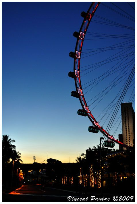 An evening at Singapore Flyer