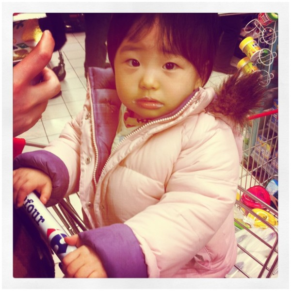 Baby Girl in Supermarket