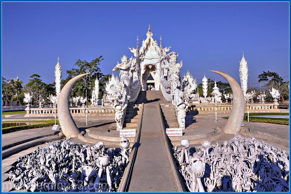 Gate to the white temple.