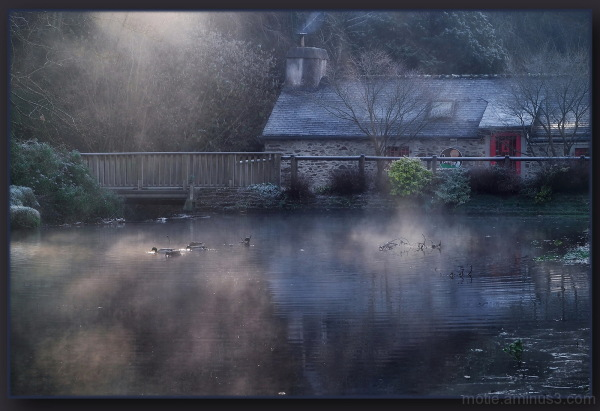 Winter light....The inn.