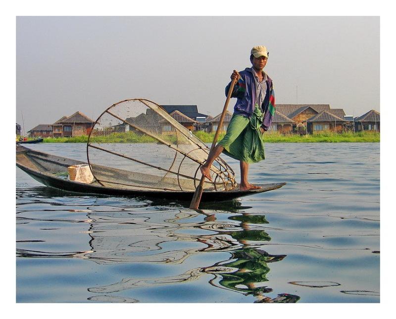 Fisherman In lake Inle.