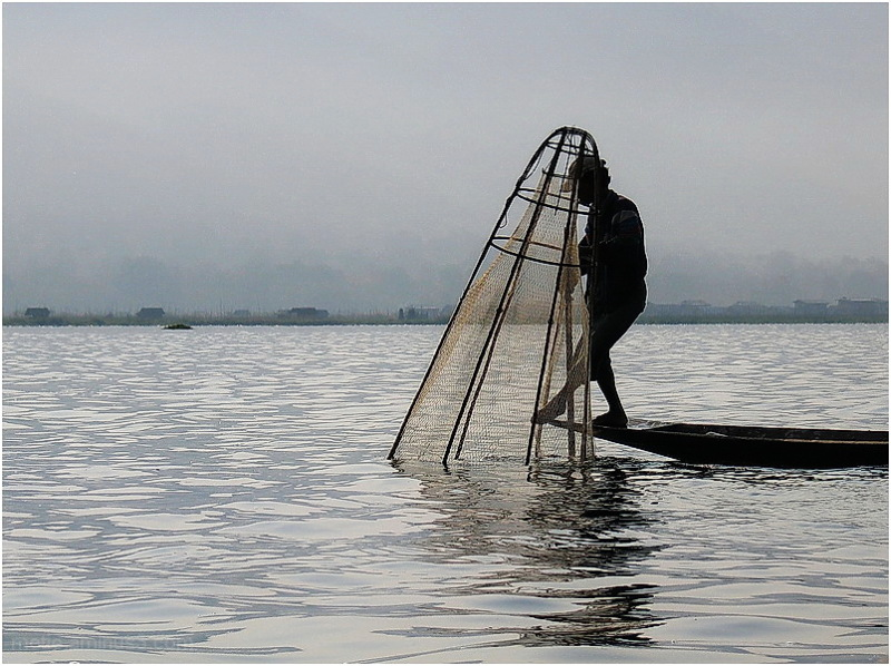 Fisherman on Lake Inlé...Myanmar.