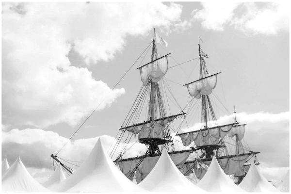 A vessel in the clouds