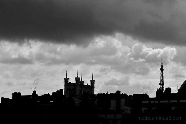 Orage sur Lyon !