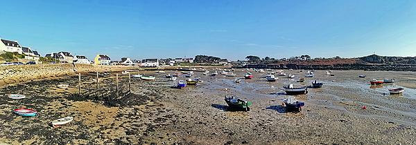 Marée basse à Portsall
