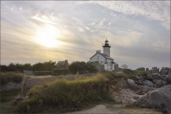 Le phare de Pontusval, Brittany.