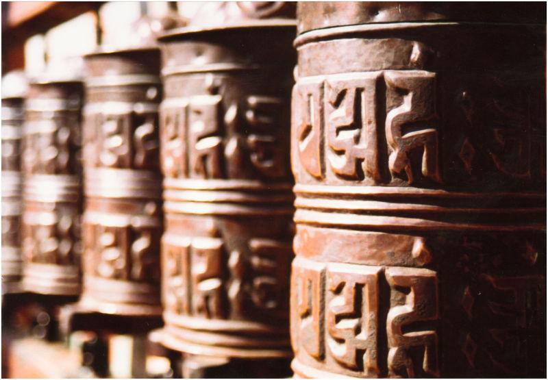 Kathmandu prayer wheels
