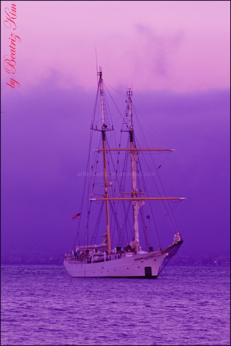 classic sailboat on the San Francisco Bay