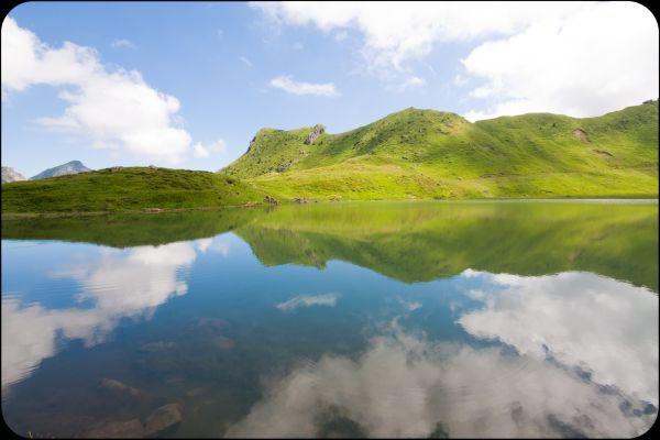 les reflets du lac vert