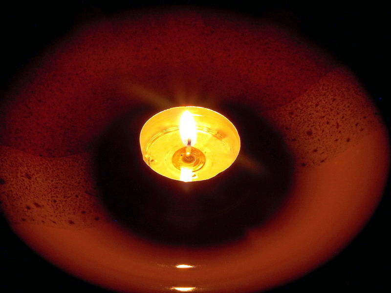 Candle in a plate