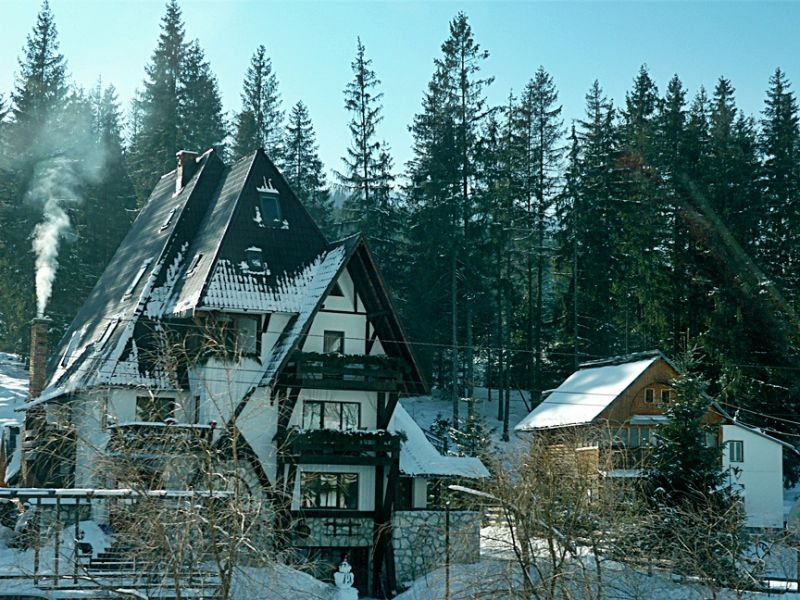 A beautiful house in the mountains
