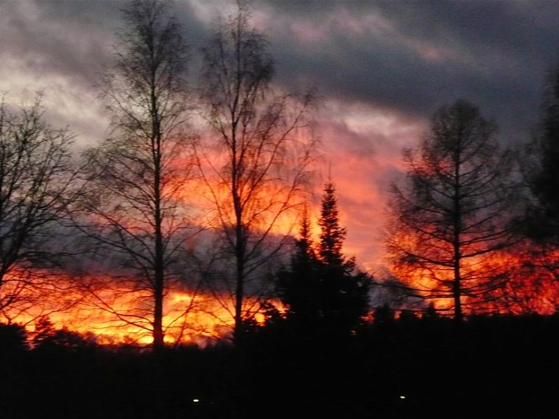 Beautiful sky in Finland...